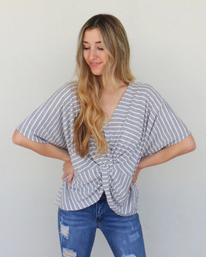Ivy Top in Gray
