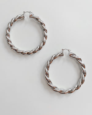 Cecilia Earrings in Silver