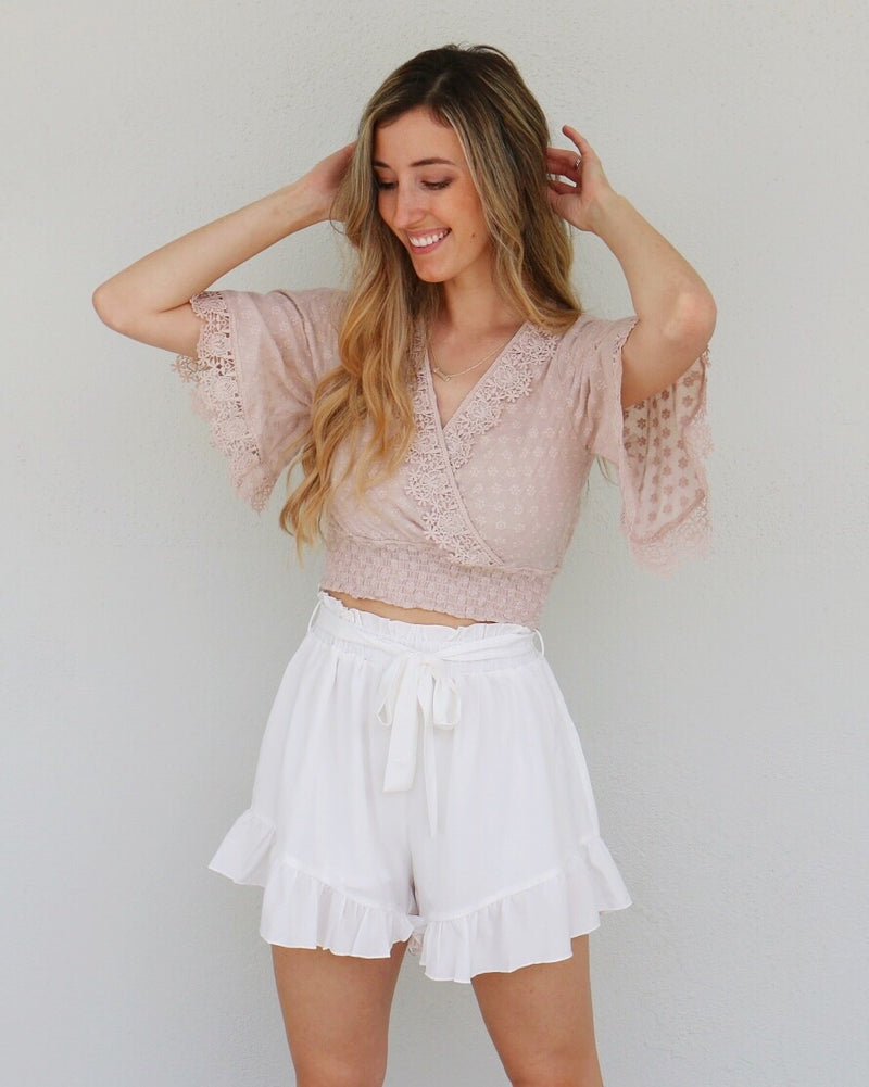 Abby Shorts in White