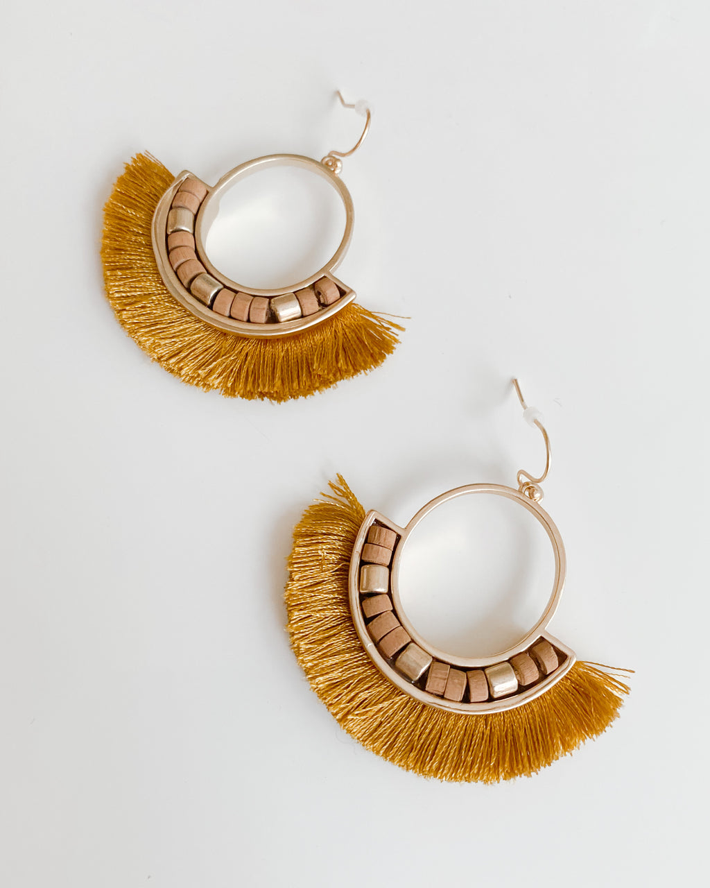 Eryn Earrings in Mustard