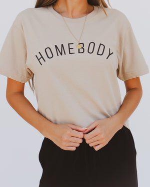 Homebody Tee in Sand