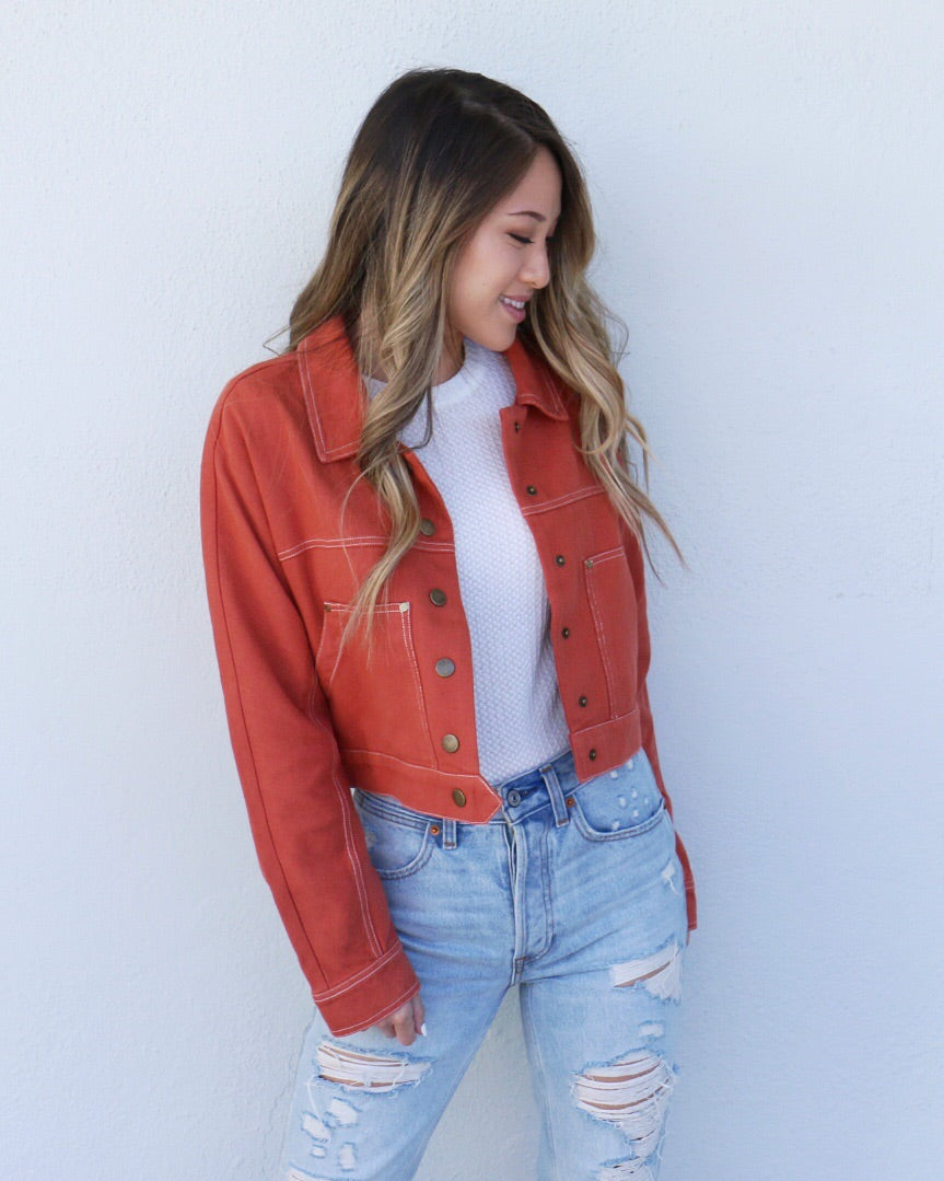 Third Avenue Jacket in Rust