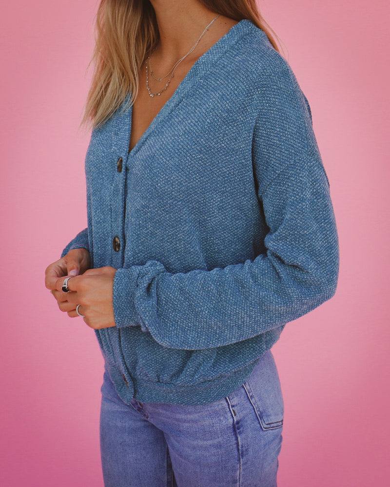Here to Stay Cardigan in Teal