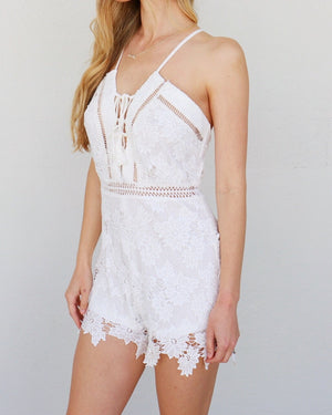 Maria Romper in White