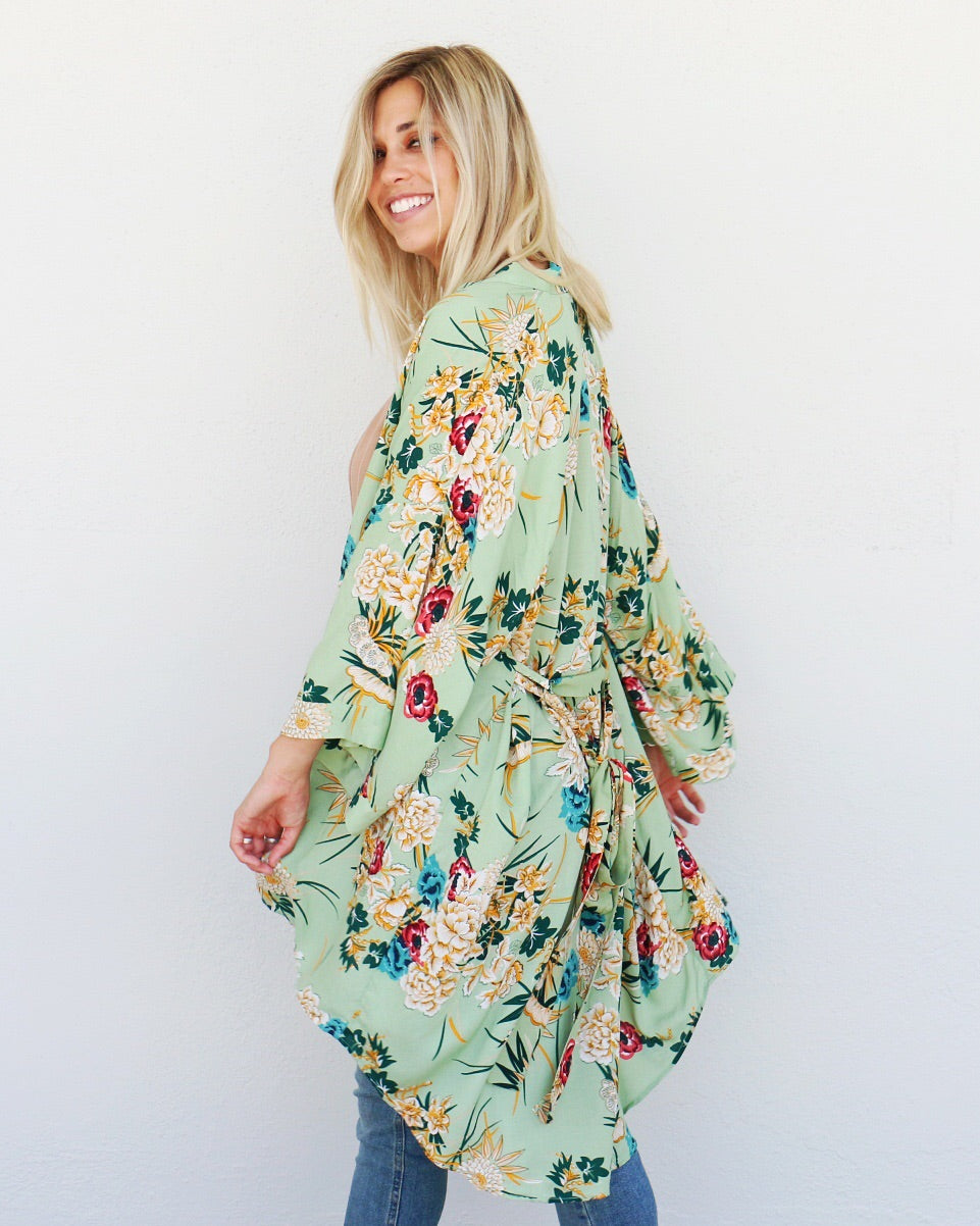 All Things Kimono in Green