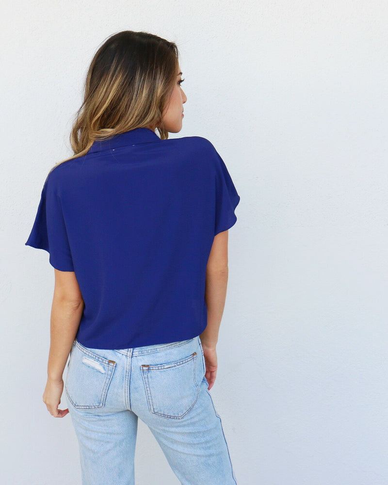 Sunset Top in Navy