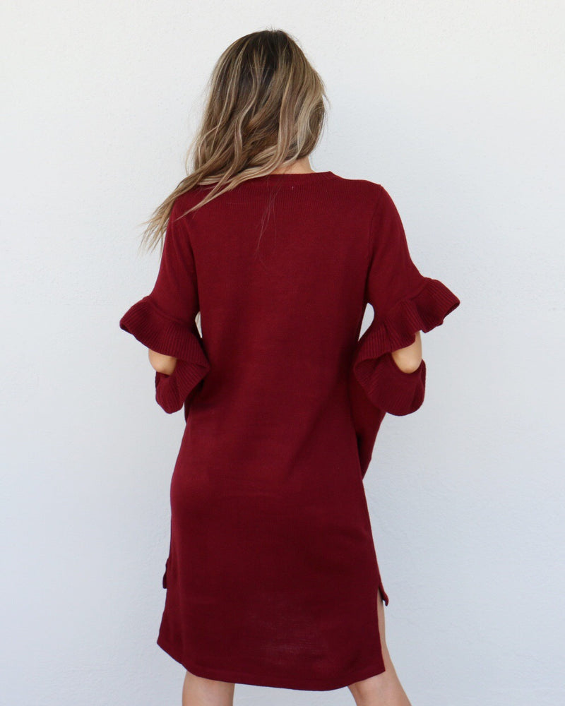 Primrose Dress in Burgundy