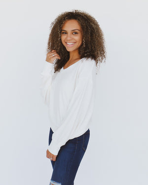 Harvest Sweater in White