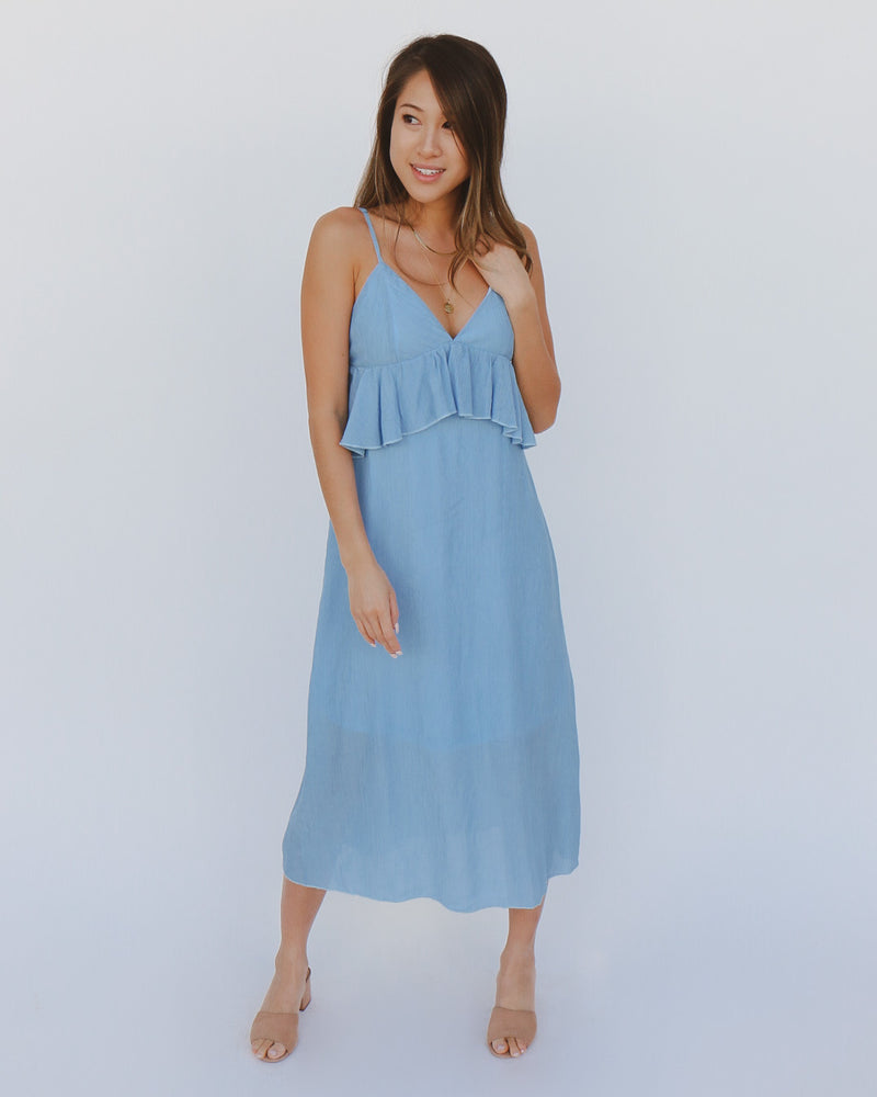 Lara Dress in Blue
