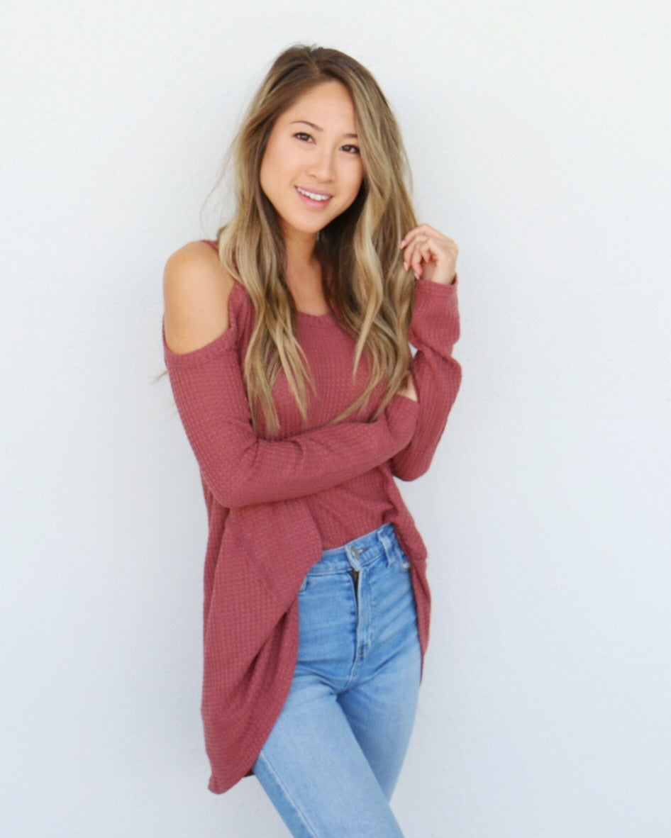 Camryn Top in Mauve