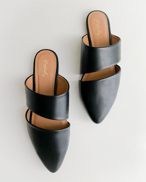 Dana Mules in Black