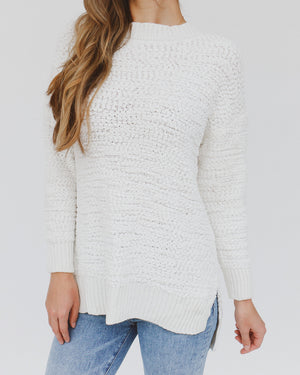 Lacey Sweater in White