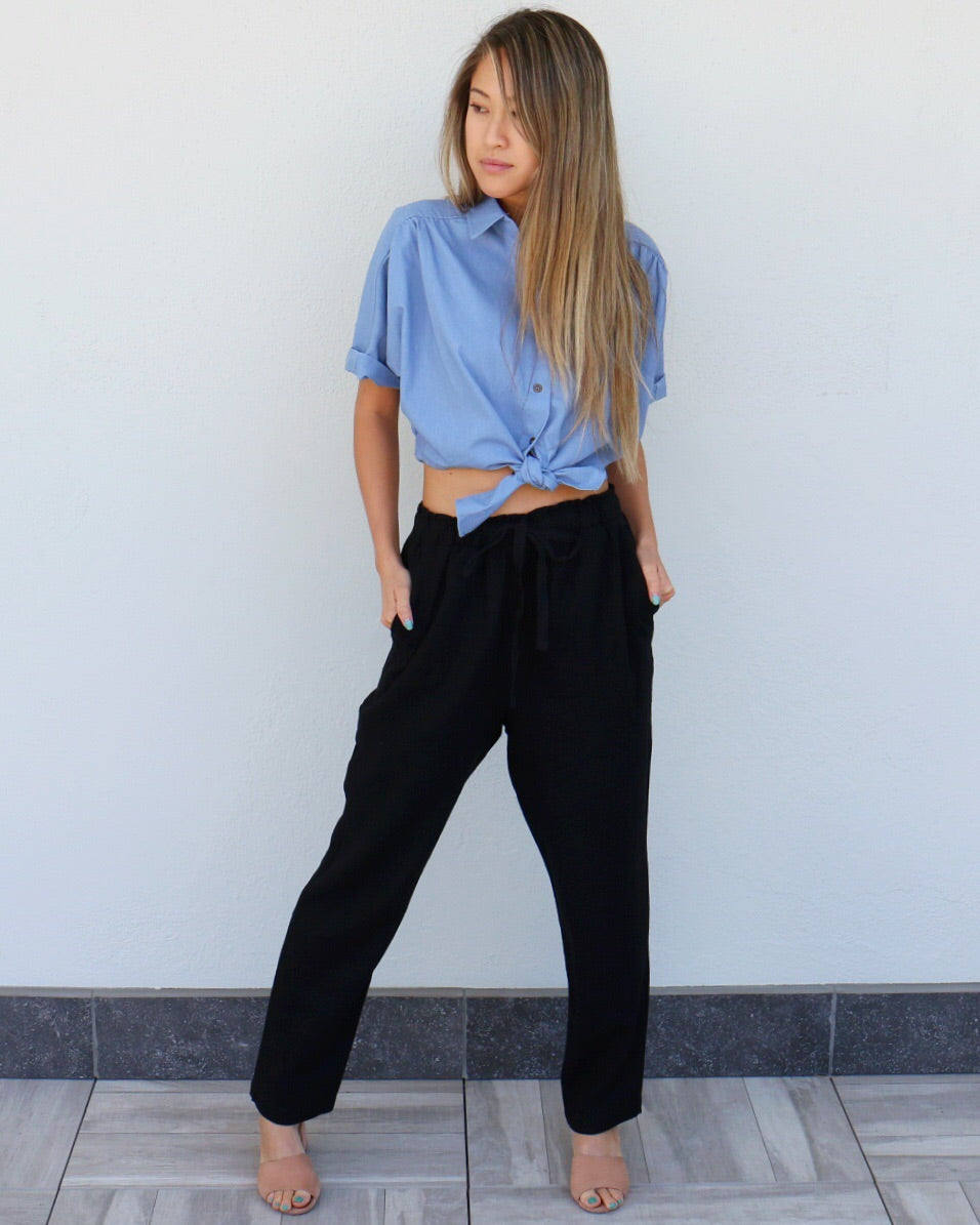 Hopland Pants in Black