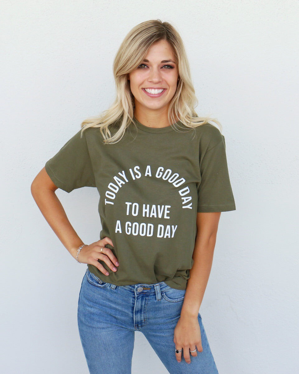 Today Tee in Olive