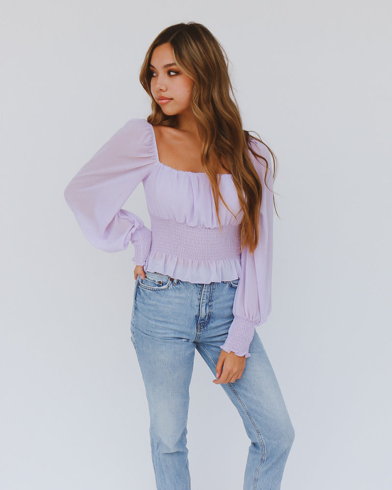Nova Top in Lavender