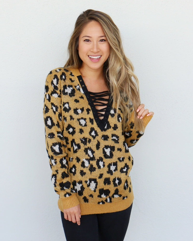 Wild Child Sweater in Mustard