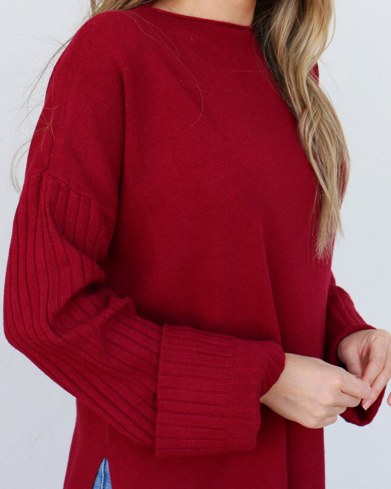 Tilden Sweater in Red