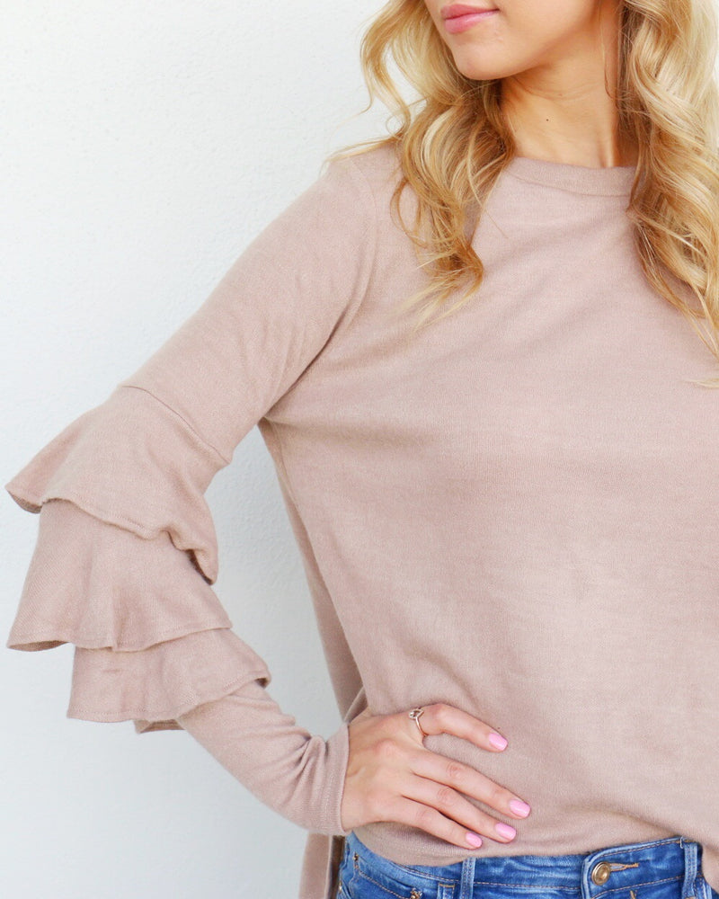Amanda Top in Tan