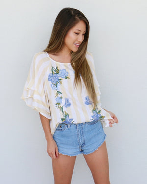 Mallory Top in Yellow