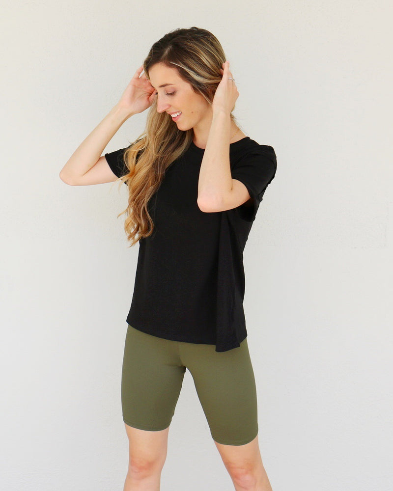 Kit Biker Shorts in Olive