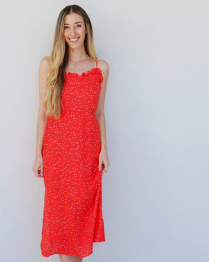 Lala Land Dress in Red
