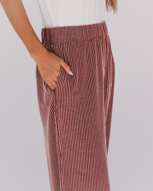 Tate Pants in Wine