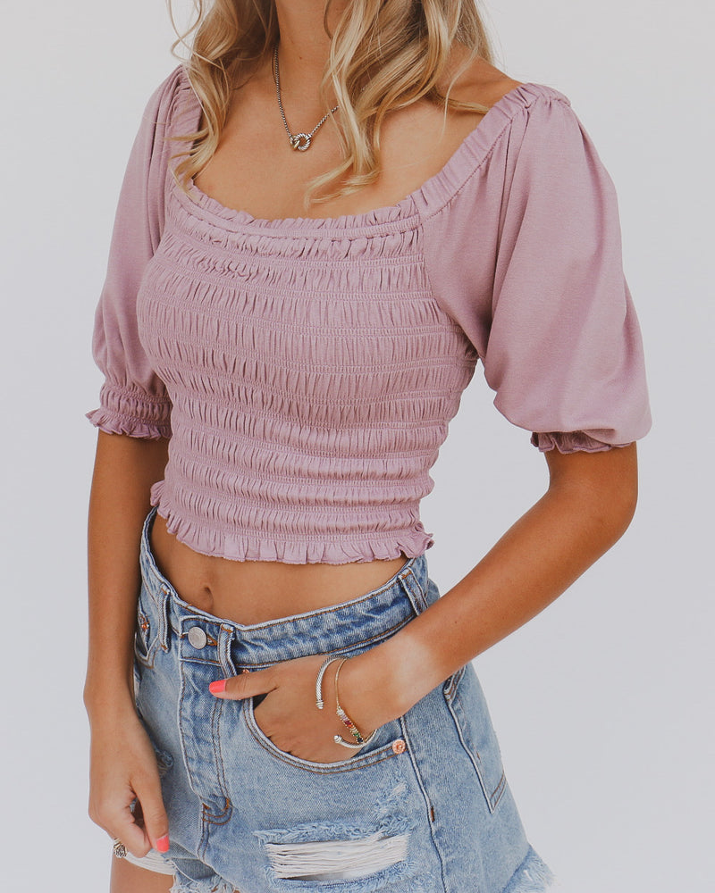 Katelyn Top in Plum