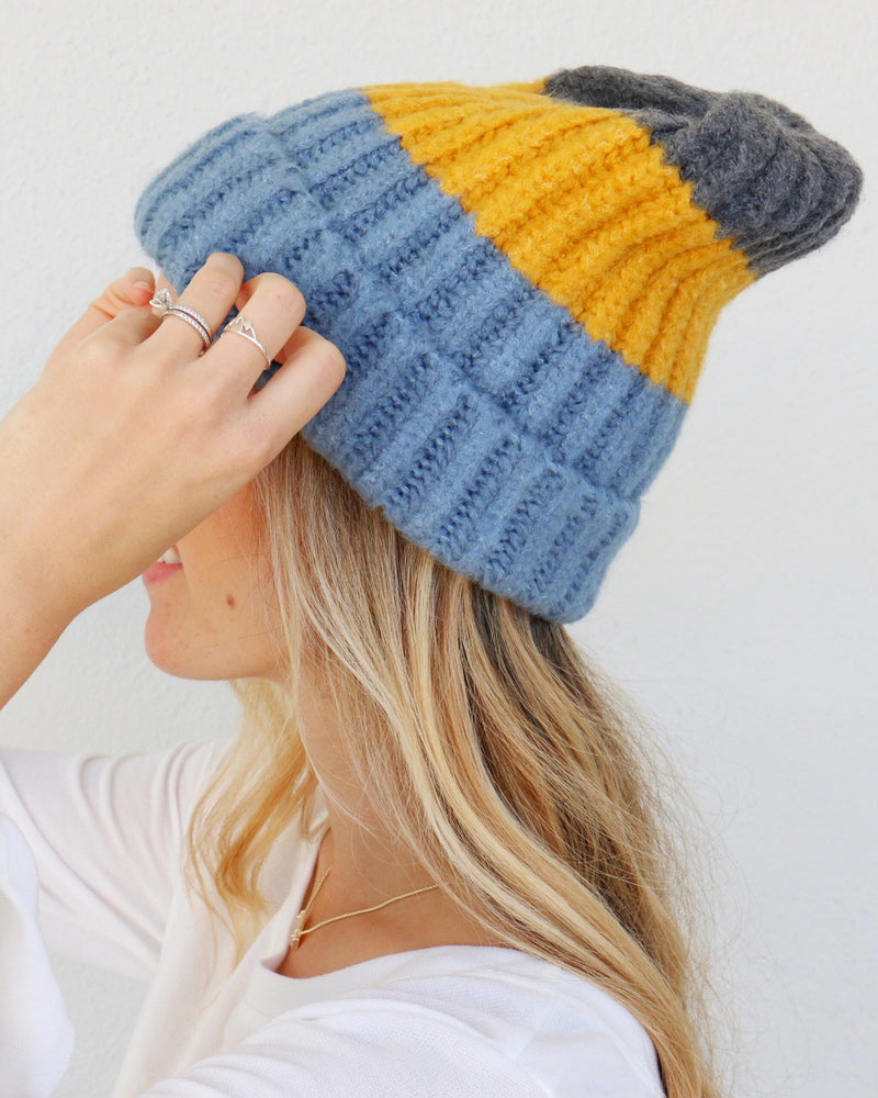 Walker Beanie in Blue