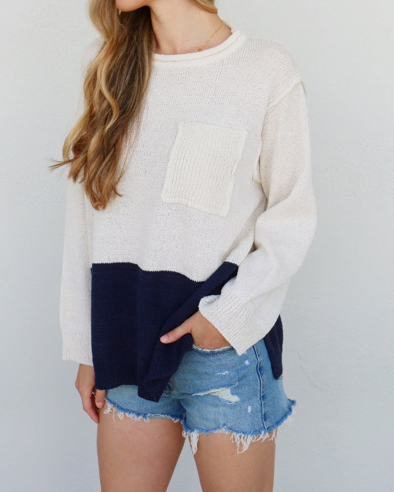 Holland Sweater in Navy