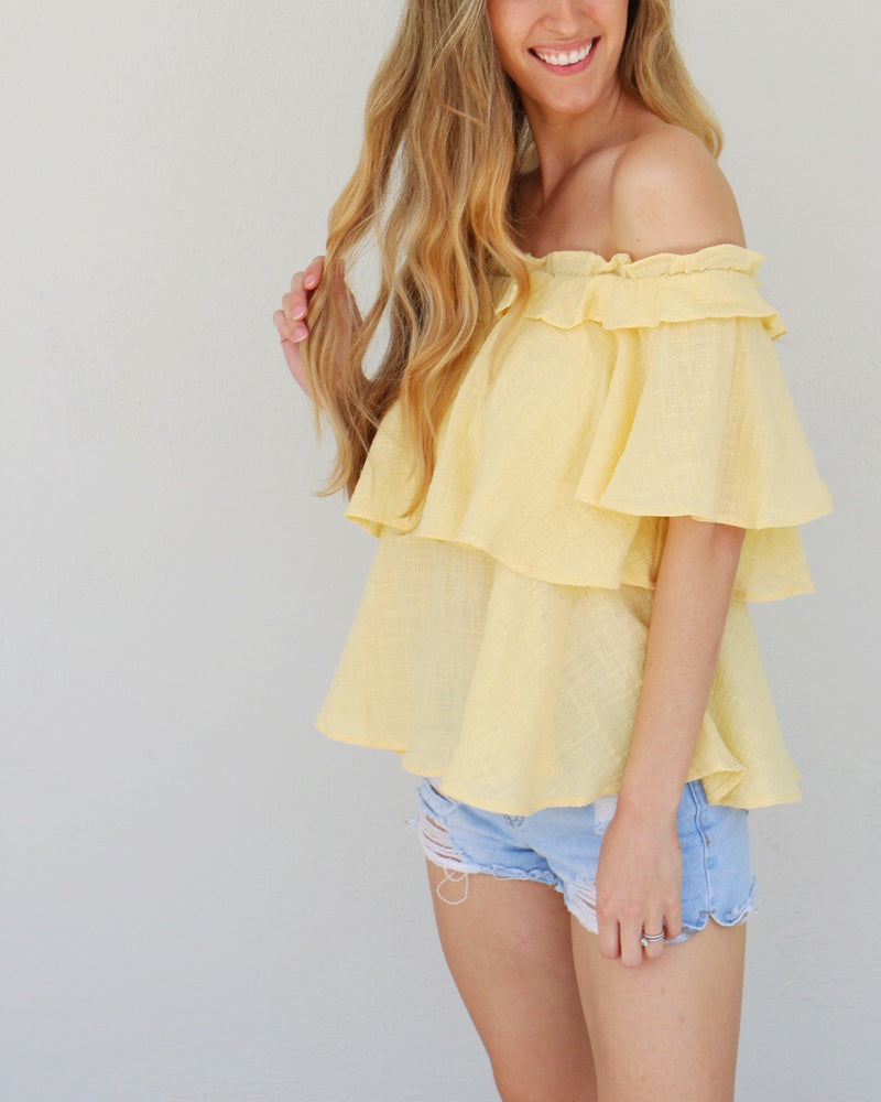 Landry Top in Yellow