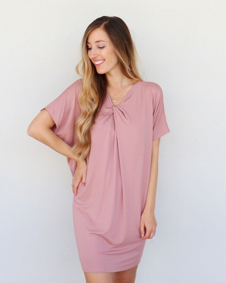 Tatum Dress in Mauve