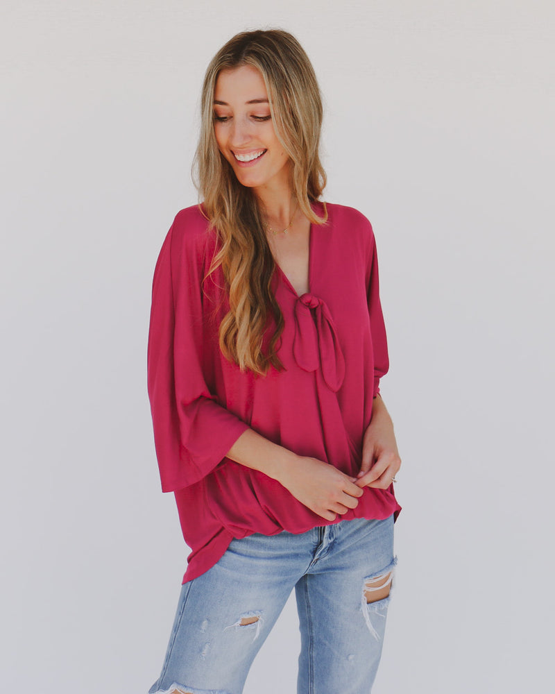 Nadine Top in Berry