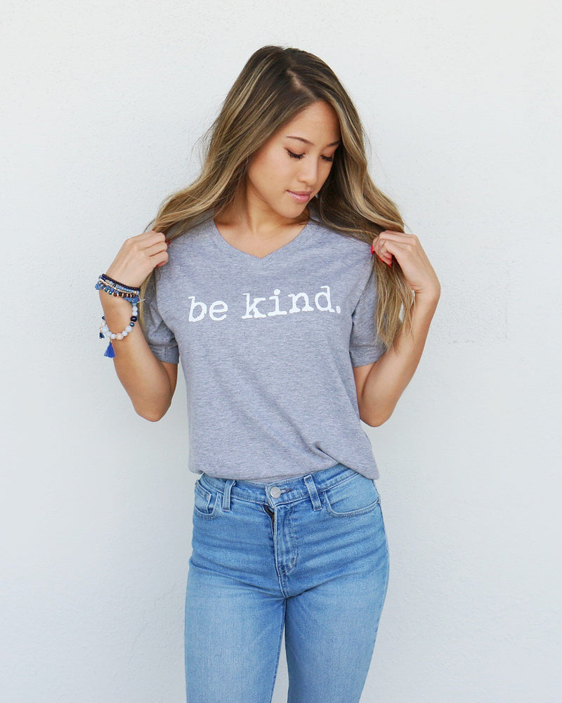 Be Kind Tee in Gray