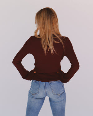 Jessa Top in Burgundy