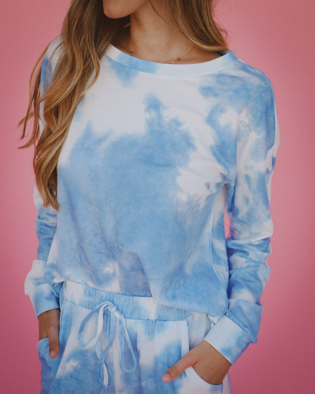 Mikayla Crew Neck in True Blue