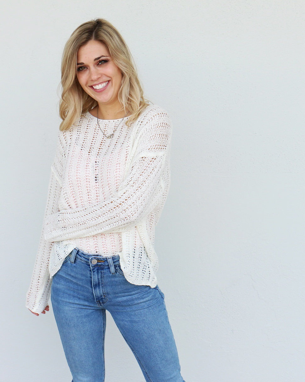 Christine Sweater in White