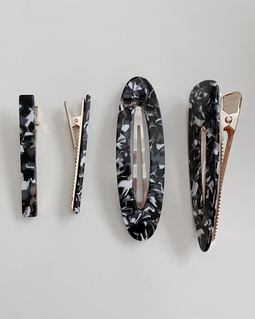 Celeste Hair Clip Set in Black