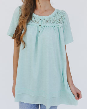 Cynthia Top in Mint
