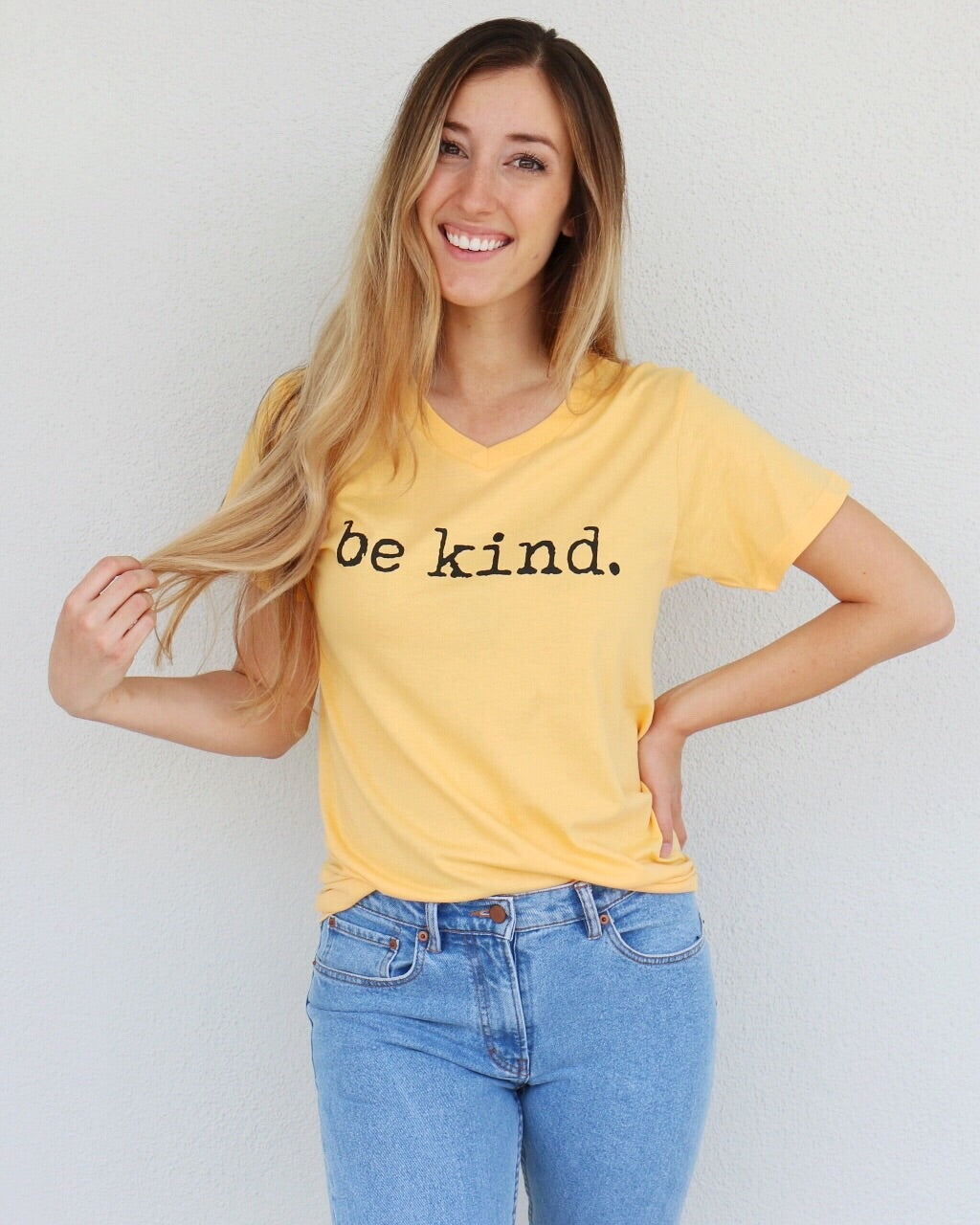 Be Kind Tee in Yellow