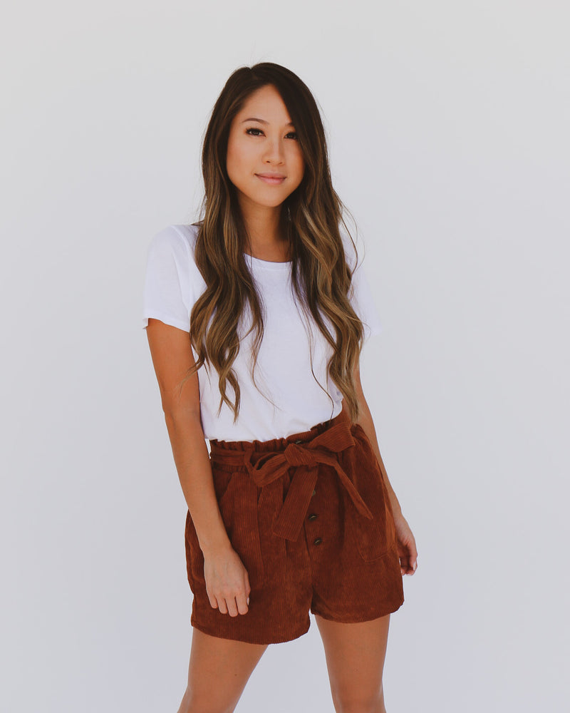 Fall Into Me Shorts in Rust