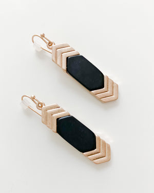 Justine Earrings in Black