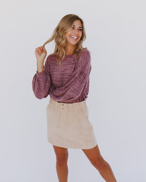 Cherie Skirt in Beige