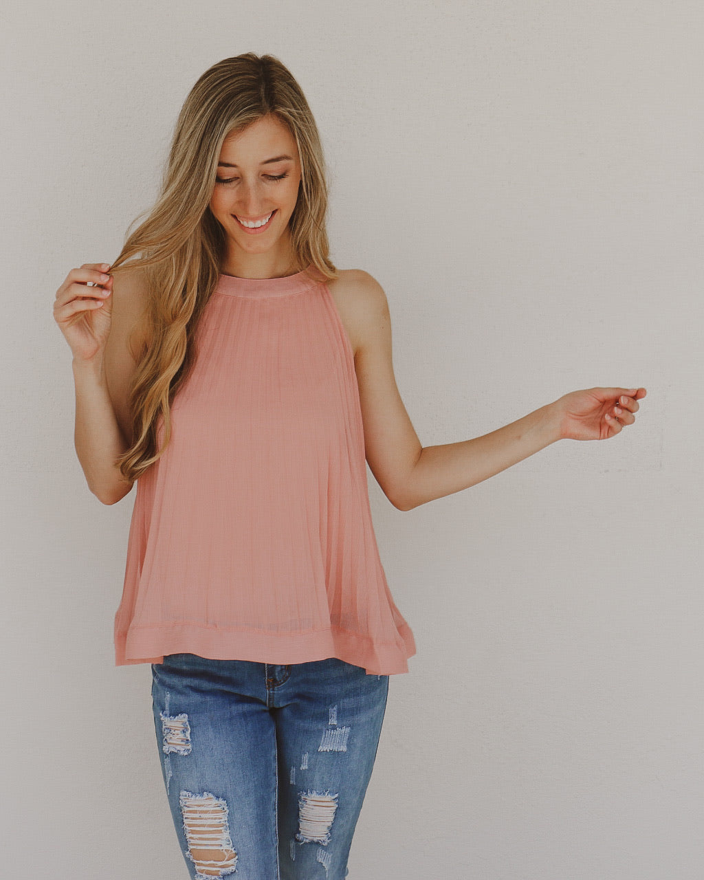 Serendipity Top in Rose