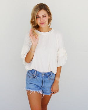 Madelyn Top in Ivory