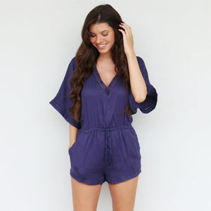 Tristan Romper in Navy