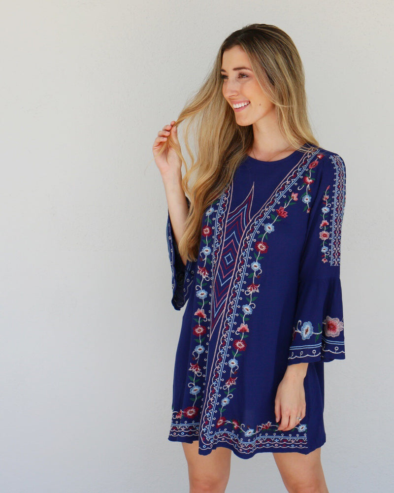 Lumi Dress in Navy