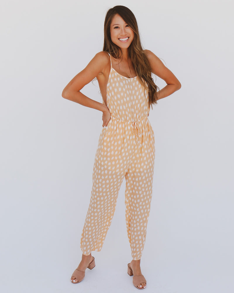 Janet Jumpsuit in Peach