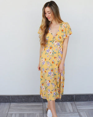 Hana Dress in Yellow