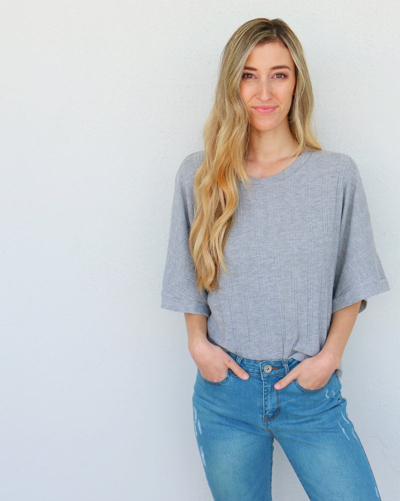 Moriah Top in Gray