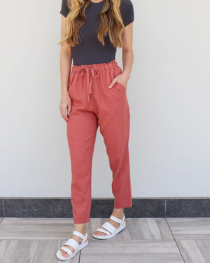 Hopland Pants in Rose